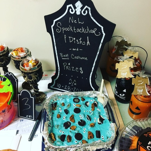 Our annual office Halloween luncheon is so much fun!! spookyfoodhellip