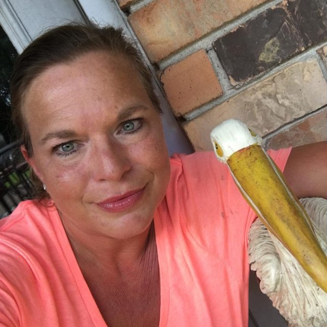 Me and my patio pelican dreaming of a tropical vacation!hellip