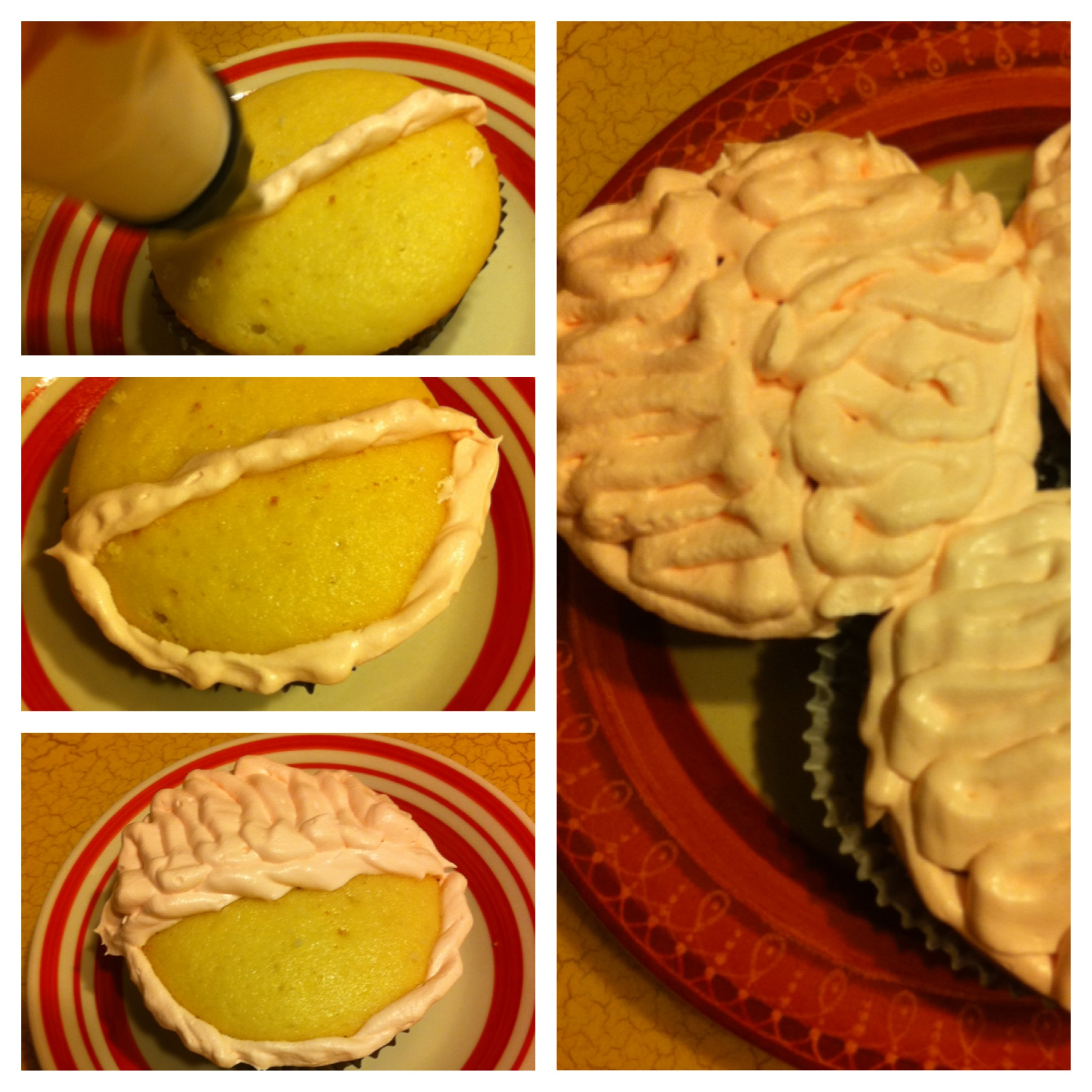Brain Cupcakes for Halloween