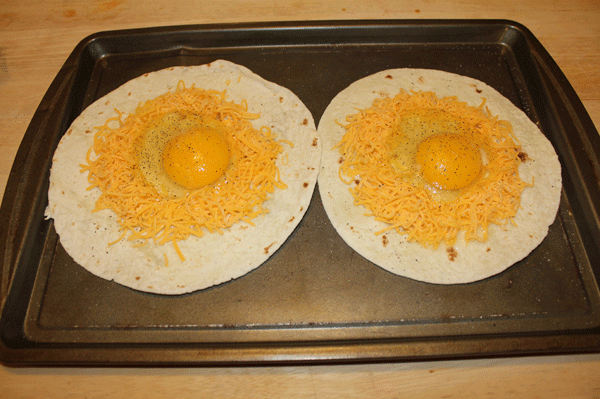 Southwestern Eggs in a Basket