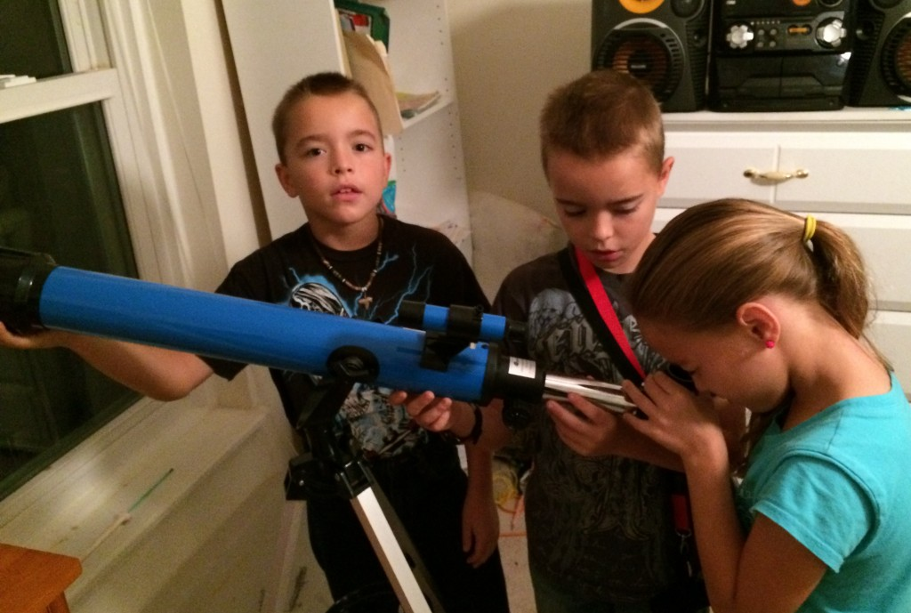 Zachary and his telescope