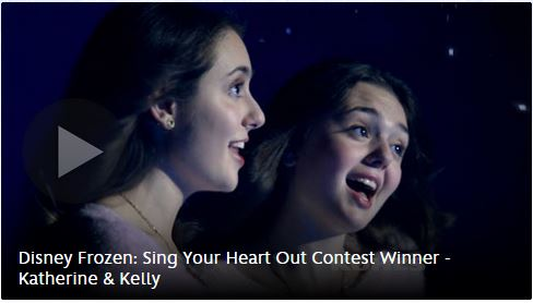 "Kohl's Sing Your ""Frozen"" Heart Out Winner"