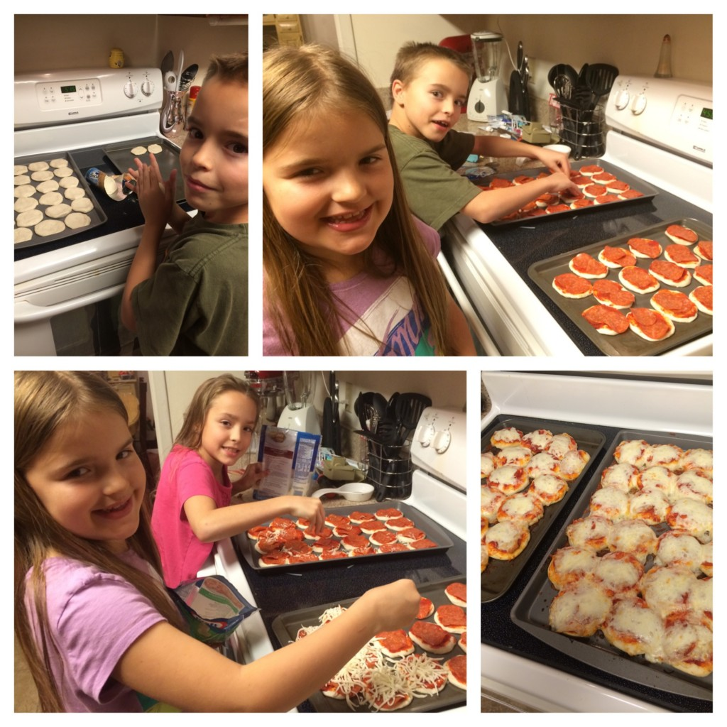 Making Mini Pizzas with the Kids