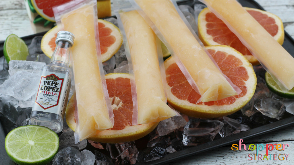 Cocktail Recipe: Grapefruit Paloma Frozen Pops