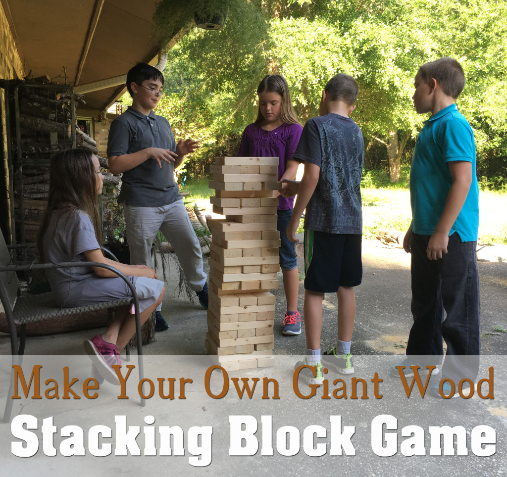 Build Your Own Giant Wood Stacking Block Game