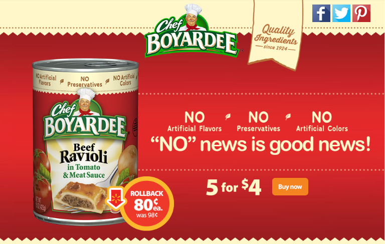 Hot Deal Alert! Chef Boyardee on Rollback at Walmart