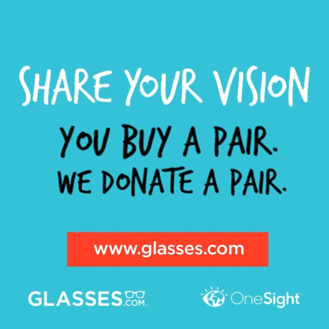 Help end the vision crisis with Glassesdotcom! Buy a pairhellip