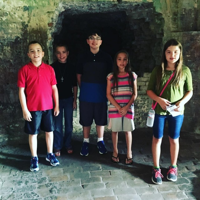 Finishing out summer break with a trip to Fort Pickenshellip