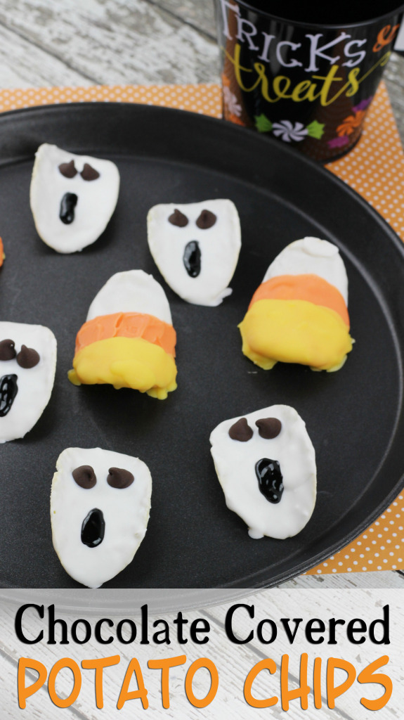Halloween Chocolate Covered Potato Chips Recipe
