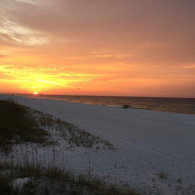 Absolutely gorgeous sunset on Pensacola Beach tonight Dont get tohellip