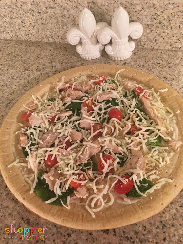 Quick & Easy Spinach and Chicken Alfredo Pizza