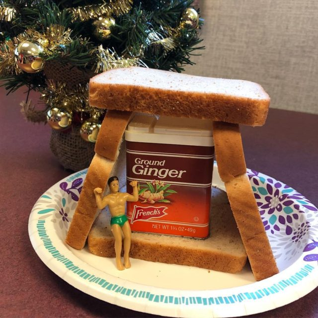 My cubemate smenda17 and I made a gingerbread house forhellip