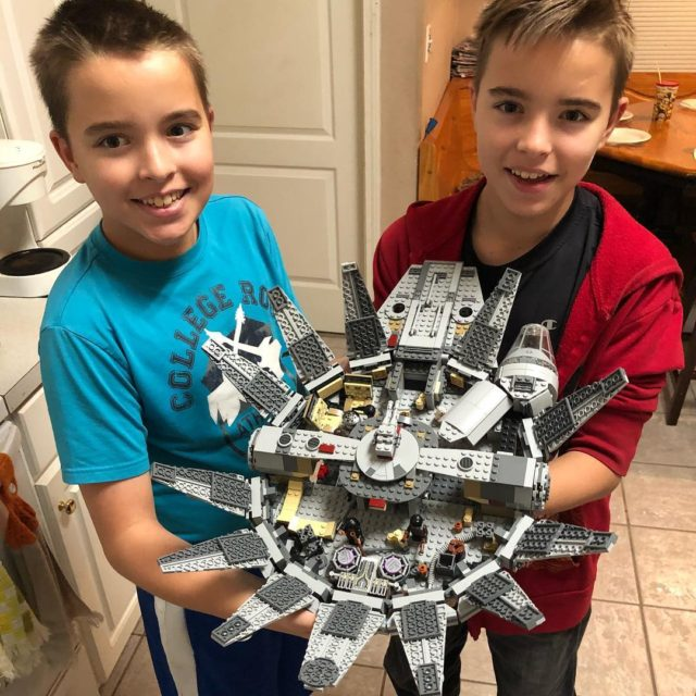 Brandon got this LEGO Milennium Falcon for Christmas and hashellip
