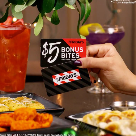 Sleigh the Holidays – TGI Fridays Gift Card Offer