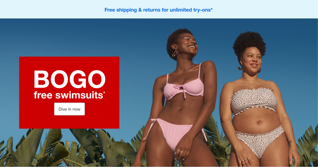 BOGO Swim Wear at Target