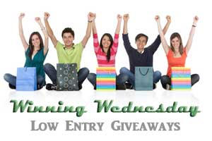 Winning Wednesday ~ Low Entry Giveaways