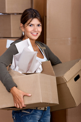 Woman moving in
