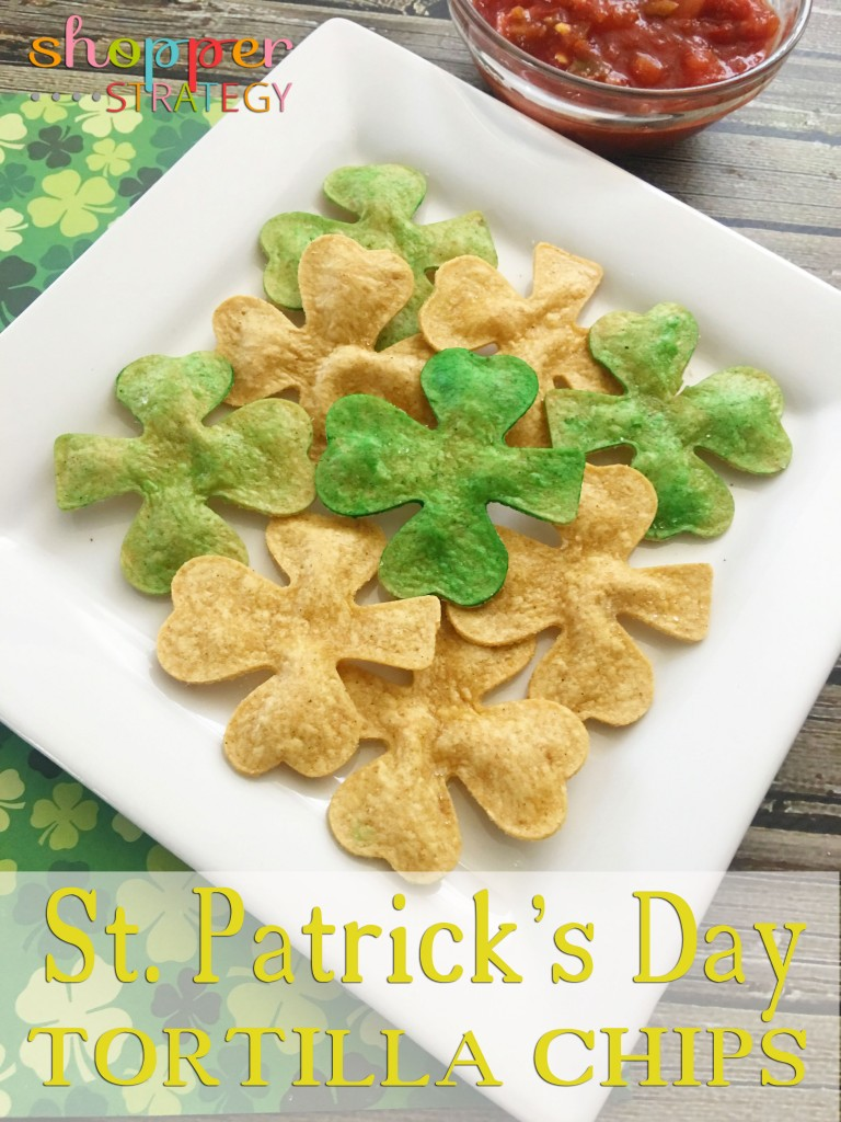 Shamrock Tortilla Chips for St. Patrick's Day
