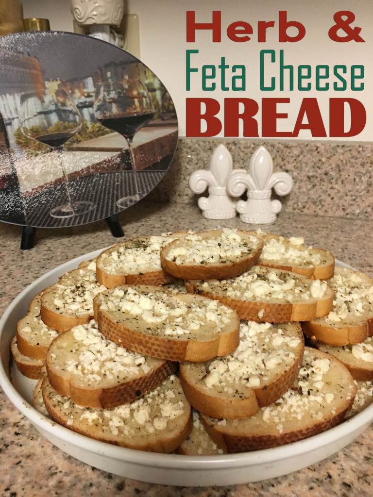 Herb and Feta Cheese Bread Appetizer Recipe