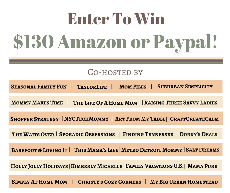 $130 Amazon Gift Card or PayPal Cash Giveaway