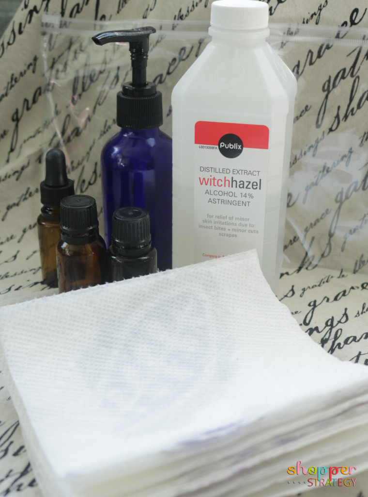 DIY Facial Cleansing Wipes with Geranium, Lavender and Frankincense