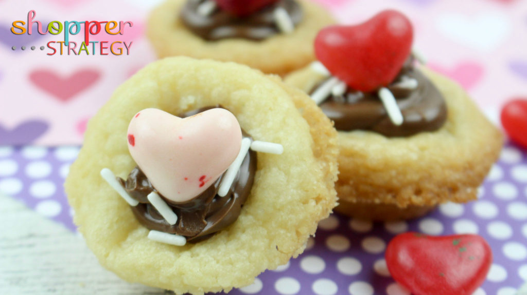 Easy Valentine's Day Nutella Cookie Cups