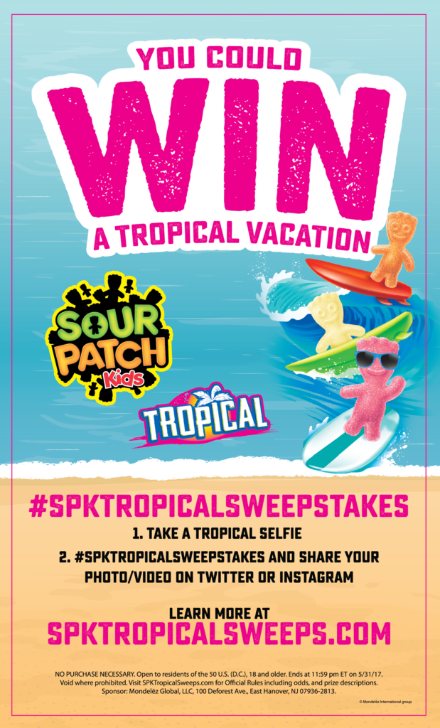 Win a Tropical Vacation from SOUR PATCH Kids