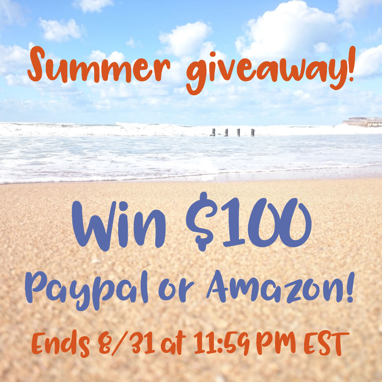 $100 Amazon Gift Card or PayPal Cash Summer Giveaway