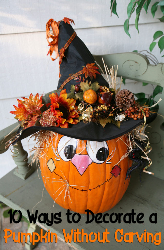 10 Ways to Decorate a Pumpkin Without Carving It