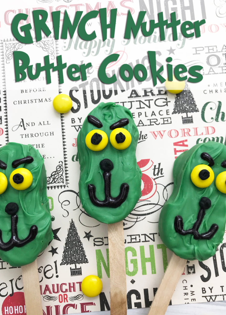 Make These Super Fun Grinch Nutter Butter Cookies